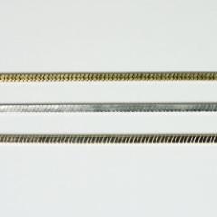 チェーン N-1208 1m ゴールド ロジウム シルバー アンティーク 古美 メッキ 真鍮 金