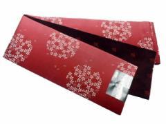 半幅帯 半巾 細帯 浴衣帯 四寸帯 リバーシブル四寸帯 日本製 赤地 ボカシ 華輪 柄 no3040