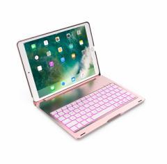 iPad Pro 10.5 インチ専用キーボードケース カバー ワイヤレスBluetoothキーボード LEDバックライト付き アルミ7色バックライト