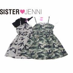 JENNI ジェニィ ジェニー 子供服 18夏 迷彩シフォンドッキングワンピース je88007