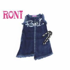 RONI ロニィ ロニー 子供服 18春 ストレッチデニムサックドレスワンピース r1381190201202