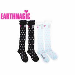 EARTHMAGIC アースマジック 子供服 18春 レースハート柄ニーハイソックス ea38182317