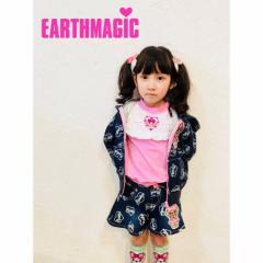 EARTHMAGIC アースマジック 子供服 18春 マフィー裏毛デニムキュロットパンツ ea38153244