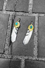 SVフェザーハートk18金縄ターコイズLサイズ☆【goros(ゴローズ) 魂継承】TADY&KING【タディ&キング】