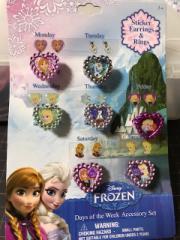 キッズ 指輪 イヤリングシールセット アナと雪の女王 エルサ オラフ 可愛い ディズニー おしゃれ 女の子 お出かけ 人気 雑貨