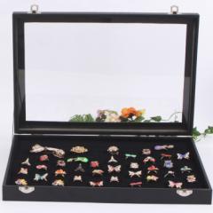 リングケース 指輪 ベロア調 ピアスケース 100個 収納可 ディスプレイ 展示用 ジュエリーボックス