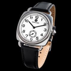 機械式自動巻き腕時計 WANCHER ワンチャー「Shell Cushion/シェルクッション 1920 」ホワイト(白)