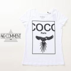 NO COMMENT PARIS ノーコメントパリ 半袖 Tシャツ レディース ホワイト