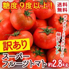 トマト 茨城県産 糖度9度以上 訳あり スーパーフルーツトマト わけあり ワケ 送料無料 旬 フルーツ 野菜