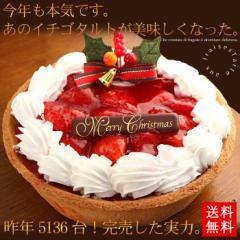 クリスマスケーキ 2017 イチゴごろごろタルトケーキ5号サイズ ギフト プレゼント 早割 早期割引 予約(11月26日まで早割中)