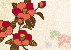 ペーパー・ランチョンマット『和柄シリーズ 〜寒つばき〜』 10枚入 (B4版)  LUN-046