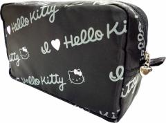 HELLO KITTY ハローキティ ロゴ 折りたたみボストンバッグ【収納ポーチ付】 定形外郵便配送で 送料無料