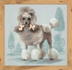 RIOLISクロスステッチ刺繍キット No.1635 「Poodle」 (プードル 犬) 【海外取り寄せ/納期30〜60日】 2018年 (平成30年) 戌年