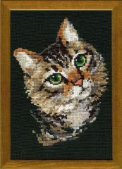 RIOLISクロスステッチ刺繍キット No.766 「Grey Cat」 (ネコ 猫)