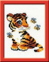 RIOLISクロスステッチ刺繍キット HB092 「Stripies」 (虎 トラ とら Tiger) 【海外取り寄せ/納期1〜2カ月】