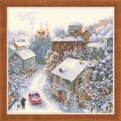 RIOLISクロスステッチ刺繍キット No.1678 「Snowy Winter」(雪の冬) 【取り寄せ/納期1〜2ヶ月】