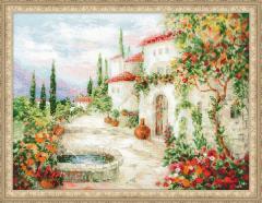 RIOLISクロスステッチ刺繍キット No.1472 「At the Fountain」 (泉にて) 【取り寄せ/納期1〜2ヶ月】