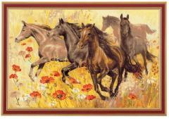 RIOLISクロスステッチ刺繍キット No.1064 「Horses」 (馬)