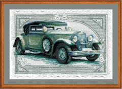 RIOLISクロスステッチ刺繍キット No.0031 PT 「Wikov」 (クラシックカー 自動車) 【プリント済みキット】 【取り寄せ/納期1〜2ヶ月】
