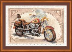 RIOLISクロスステッチ刺繍キット No.0032 PT 「Harley Davidson」 【プリント済みキット】 【取り寄せ/納期1〜2か月】