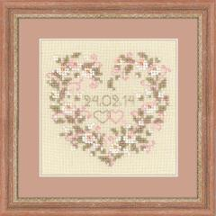 RIOLISクロスステッチ刺繍キット No.1405 「From all Heart」 (ウェディング)