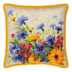RIOLISクロスステッチ刺繍キット No.1413 「Moorish Lawn Cushion」 (クッション40cm角)