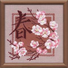 RIOLISクロスステッチ刺繍キット No.812 「Spring」 (春)