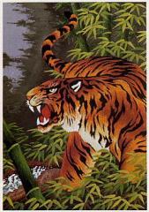 東京文化刺繍キット No.244「猛虎一声」 【6号】 【動物】 虎 トラ とら Tiger