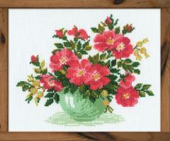 RIOLISクロスステッチ刺繍キット No.871 「Wild Rose」 (野バラ 薔薇)