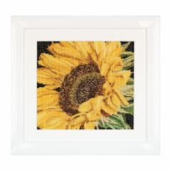 Thea Gouverneur クロスステッチ刺繍キットNo.488 「Sunflower」(ひまわり ヒマワリ 向日葵 サンフラワー 花)  オランダ テア・グーヴェ