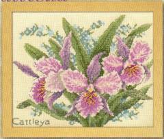 【予約/4月下旬】 Olympusクロスステッチ刺繍キット 7502 「カトレア」 Cattleya
