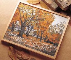 Olympusクロスステッチ刺繍キット7108 「秋深まる」