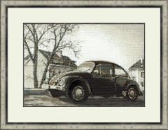 RIOLISクロスステッチ刺繍キット No.1177 「The Old Photo. The Beetle」 (古い写真 ビートル)