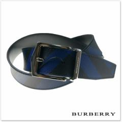 【セール 30%OFF!】BURBERRY バーバリー メンズレザーベルト JAMES35NRV / 40520281 ネイビー