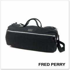 【19%OFF!】FRED PERRY フレッドペリー メンズバレル ボストンバッグ L3215 / HEAVY CANVAS DUFFLE ブラック /2018春夏新作