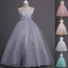 【今買うと、手袋をプレゼント】ドレス ワンピース ロングドレス 子供 ドレス キッズ 女の子 ピアノ 発表会 120cm 〜 1