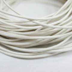 本革 丸紐 1.5mm ホワイト 100Mロット まとめ買い 卸売 皮ひも 白 革紐 皮紐 革ひも レザーコード