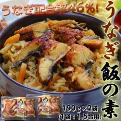 うなぎ飯の素 3合用 大盛り約6膳分 190g×2袋(1袋:1.5合用)※冷凍 ○