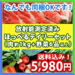 【送料込み】九州野菜6品以上と長崎県産の牛・豚・鶏の精肉約1kgほっぺるデーリィセット!(野菜はおまかせ)
