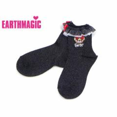 EARTHMAGIC アースマジック 子供服 18初秋 リボンマフィーショートソックス ea38382137