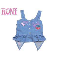 RONI ロニィ ロニー 子供服 18春夏 デニムチェリー刺繍前あきビスチェ r1383121502313