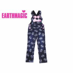 EARTHMAGIC アースマジック 子供服 18春 裏毛デニムリボン付きサロペット ea38152249