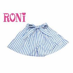RONI ロニィ ロニー 子供服 18春 ストライプライトデニムフレアーキュロット r1381160201212
