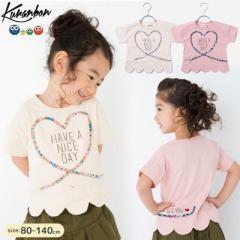 KURANBON クランボン 子供服 18春夏 ハートスカラップTシャツ ベビー キッズ ku1035057