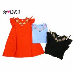 by LOVEiT バイラビット 子供服 18春 フラワー刺しゅう入り肩開きワンピース by7881305