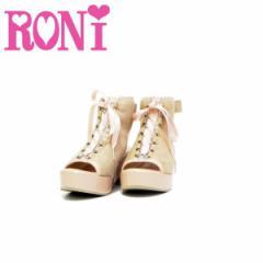 RONI ロニィ ロニー 子供服 18春夏 リボン付きチャンキーヒールサンダル r1381915901292