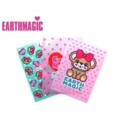 EARTHMAGIC アースマジック 子供服 18春 クリアファイル3枚セット ea30080078
