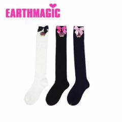 EARTHMAGIC アースマジック 子供服 18春 リボンつきリブ編みニーハイソックス ea38182167