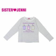 JENNI ジェニィ ジェニー 子供服 18春 ベア天竺オーガビッツ長袖Tシャツ je84667