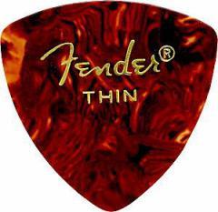 【即日発送O.K】【ピック12枚セット】Fender CLASSIC PICKS 346 SHAPE Thin Tortoise フェンダー・ピック・シン・トライアングル【z8】